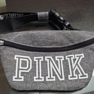 PINK Victoria Secret Grey Fanny Pack